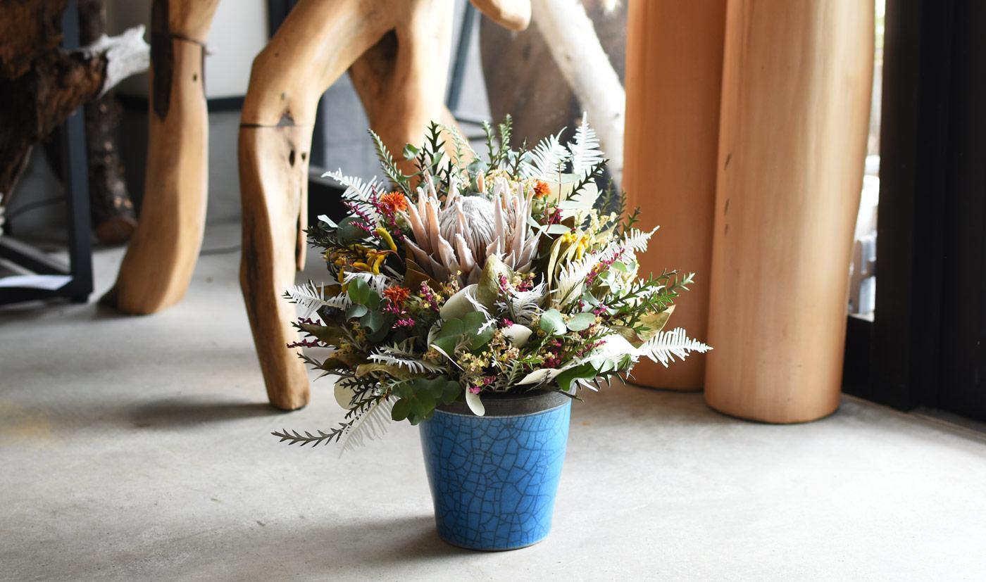キングプロテアドライアレンジ – Summer Bouquet –